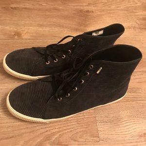Toms black high tops